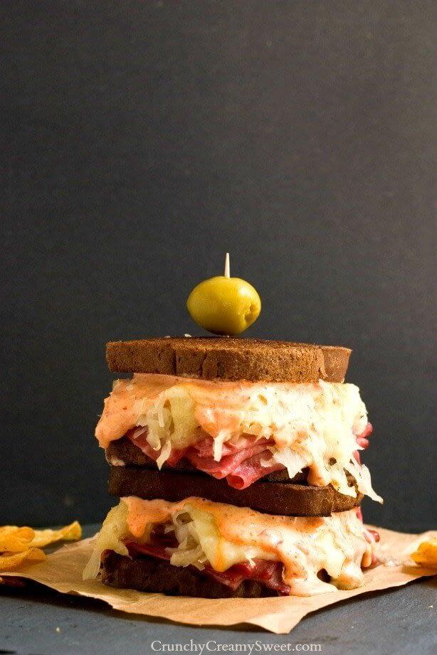 spicy reuben sandwich